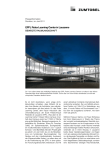 EPFL Rolex Learning Center in Lausanne