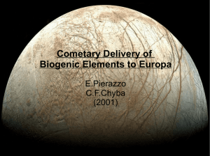 Cometary Delivery of Biogenic Elements to Europa
