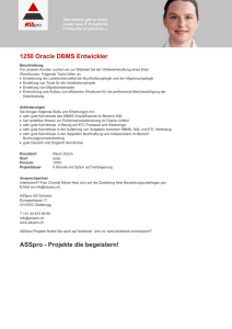 1250 Oracle DBMS Entwickler ASSpro