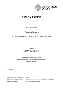 Diplomarbeit Manfred Datzinger - E-Theses