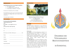 Sonnenthal Flyer de - Dhammacari Vipassana Meditation Center
