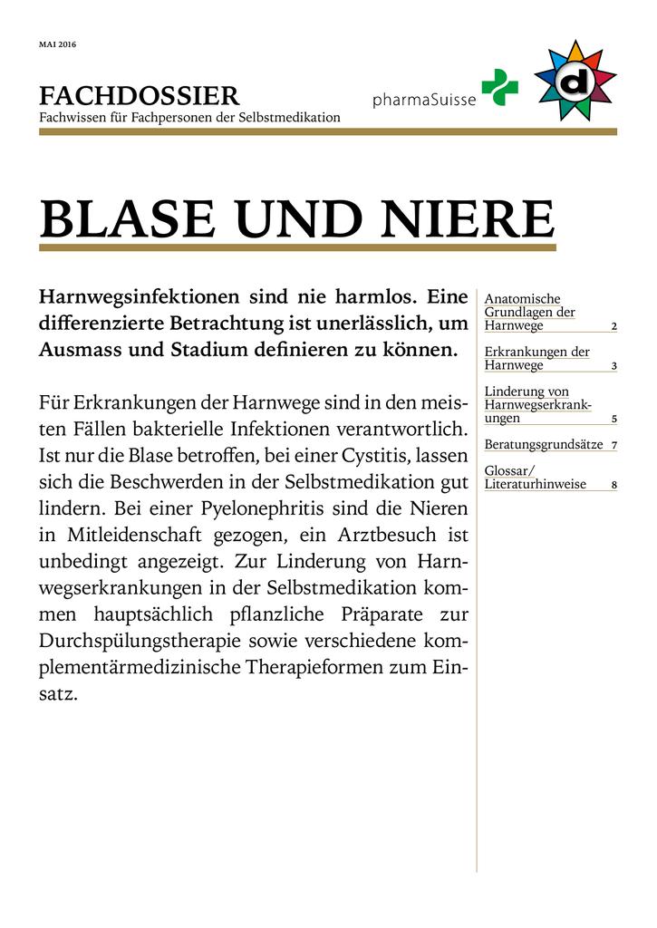blase und niere - Schweizerischer Drogistenverband