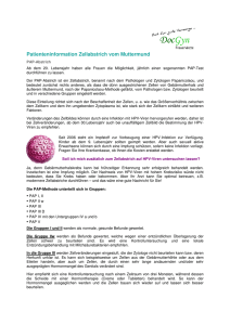 Patienteninformation Zellabstrich vom Muttermund