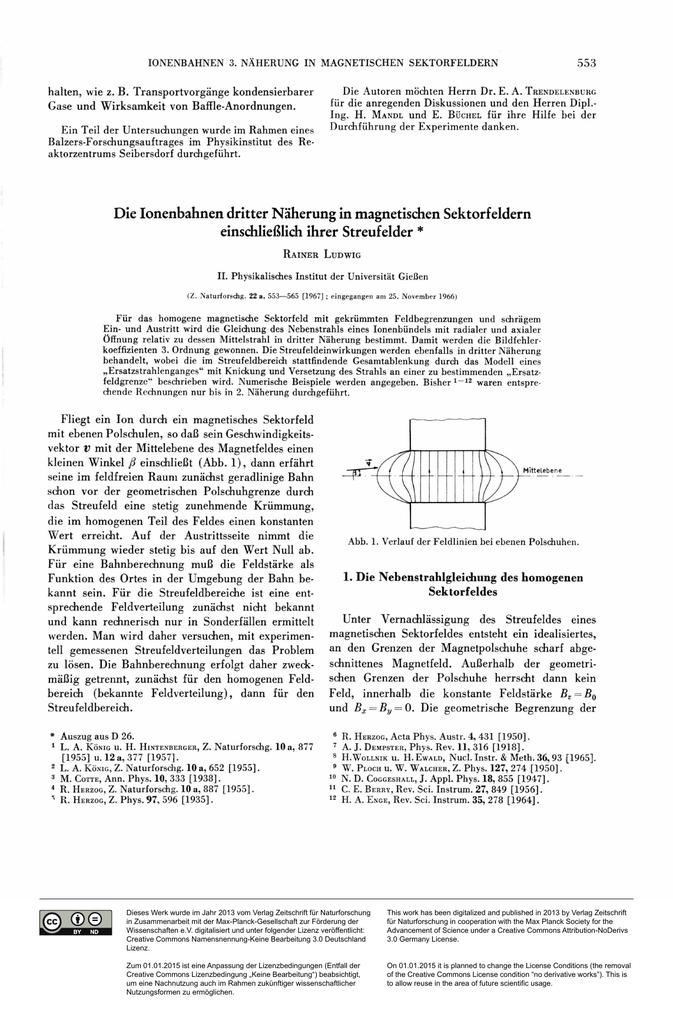 Die Ionenbahnen dritter Näherung in magnetischen Sektorfeldern