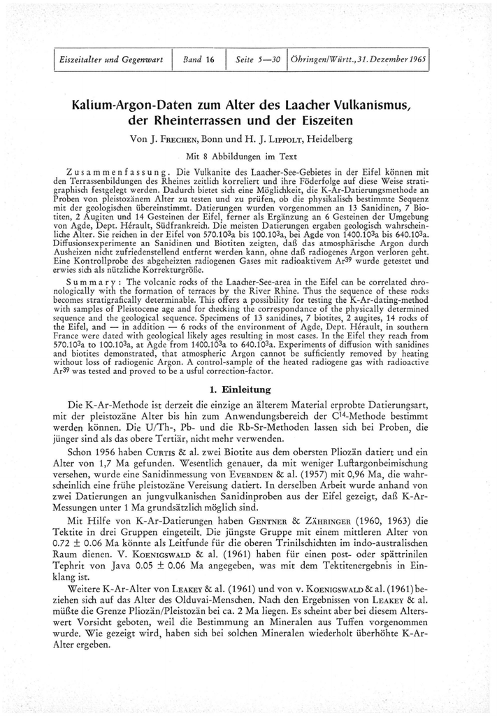 Kaliumargon Dating-Berechnung