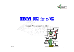 DB2 und Stored Procedures - SK Consulting Services GmbH