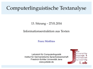 Computerlinguistische Textanalyse