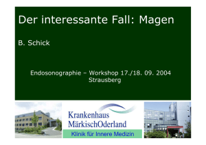 Der interessante Fall: Magen