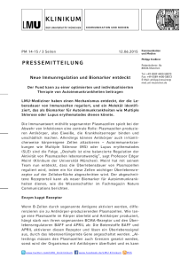 pressemitteilung - Munich Cluster for Systems Neurology