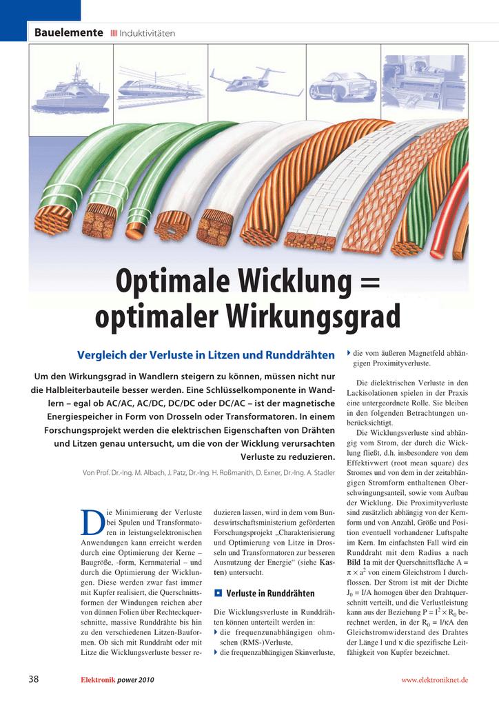 Optimale Wicklung = optimaler Wirkungsgrad