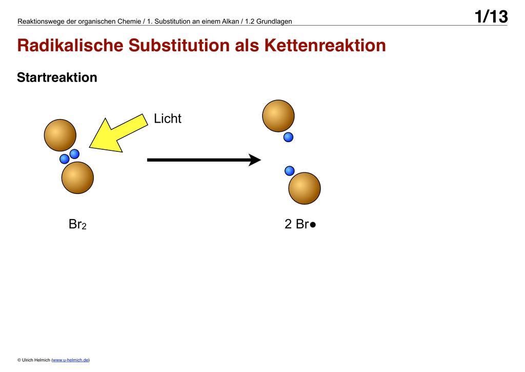 Chemie radikalische substitution
