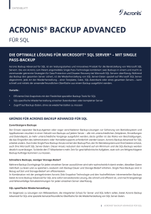 SQL - ADN Distribution GmbH