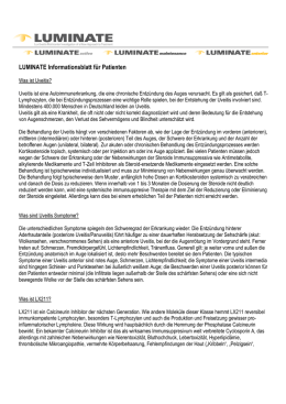 LUMINATE Informationsblatt für Patienten
