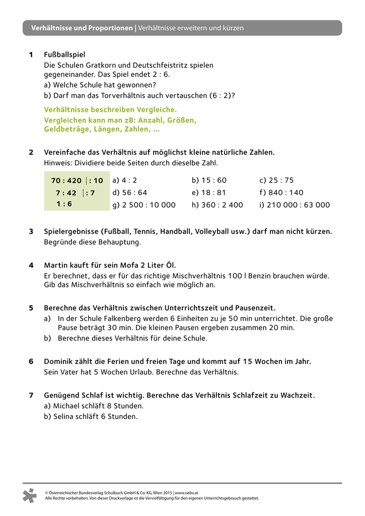 Tolle 7. Klasse In Mathe Arbeitsblätter Verhältnisse Und ...