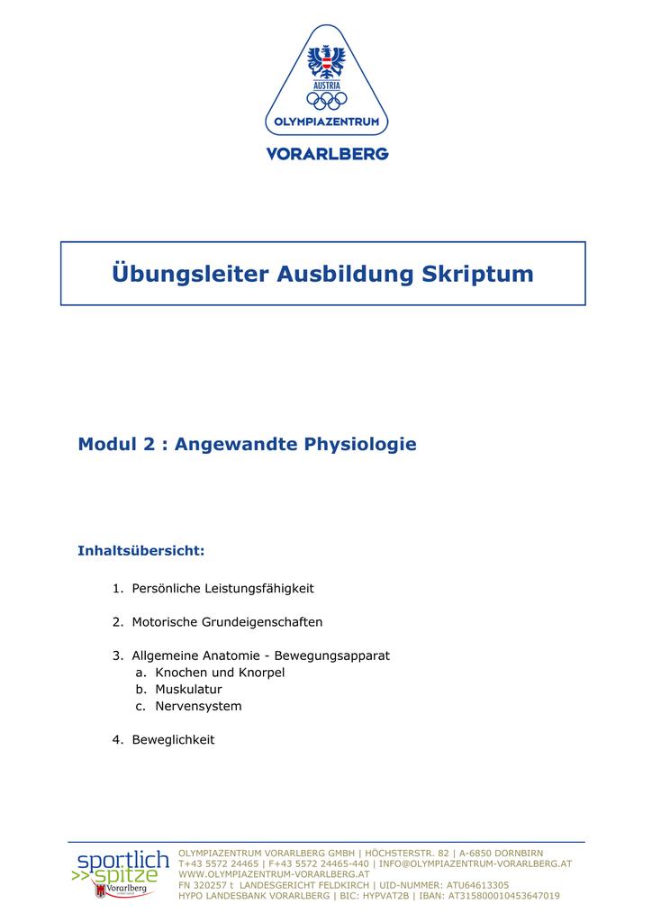 Ausgezeichnet Anatomie Und Physiologie Modul 1 Fotos - Menschliche ...