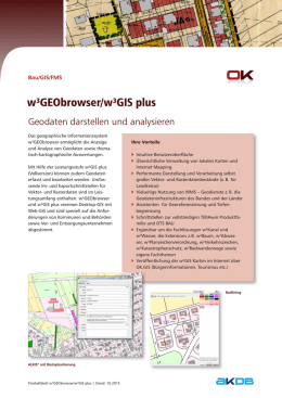w³GEObrowser/w³GIS plus