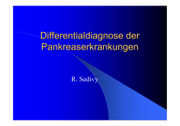 Differentialdiagnose des Pankreas
