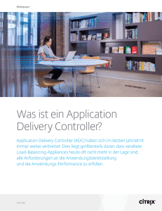 Was ist ein Application Delivery Controller?