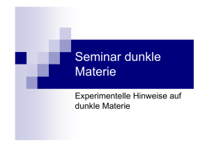 Seminar dunkle Materie