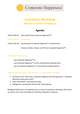 Inspirations-Workshop