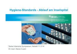 Hygiene-Standards - Ablauf am Inselspital