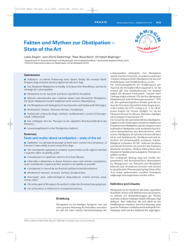Fakten und Mythen zur Obstipation – State of the Art