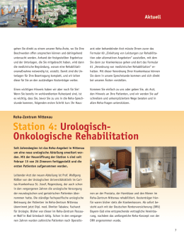 Station 4: Urologisch- Onkologische Rehabilitation