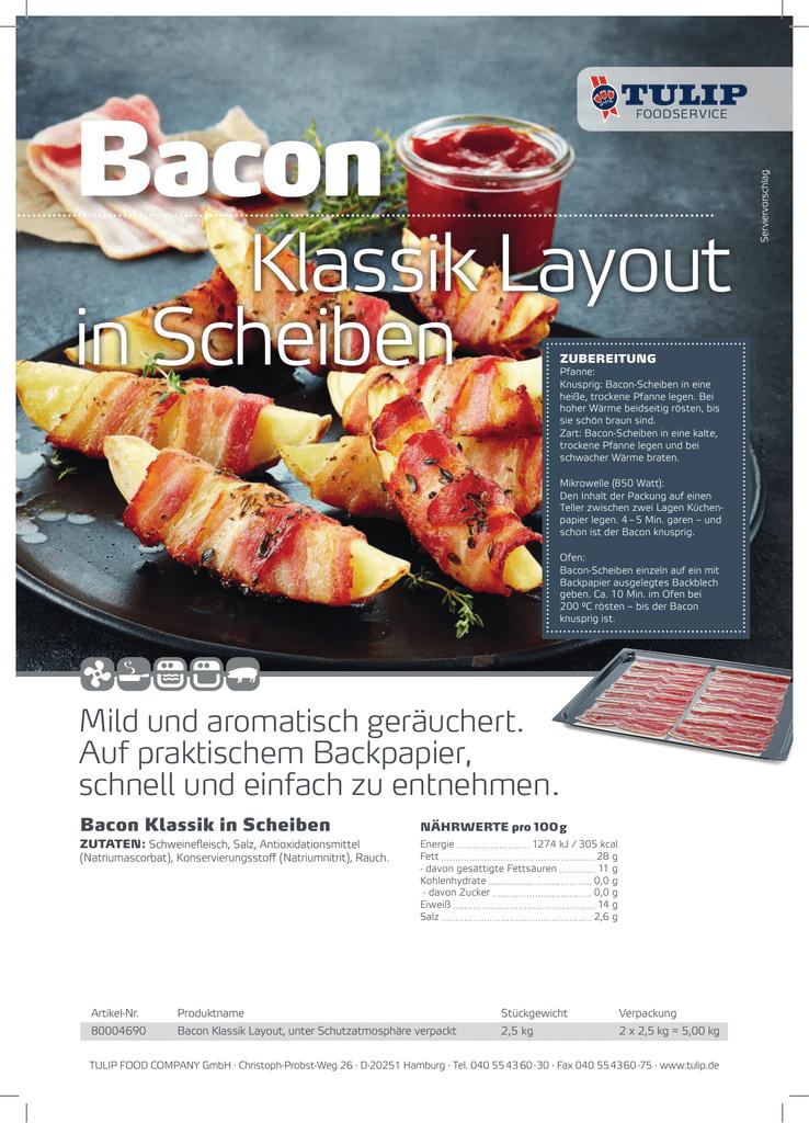 bacon in der mikrowelle zubereiten
