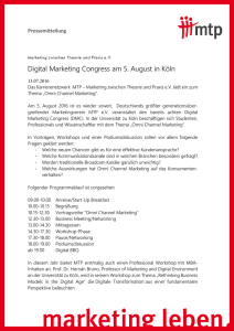 Digital Marketing Congress am 5. August in Köln - MTP