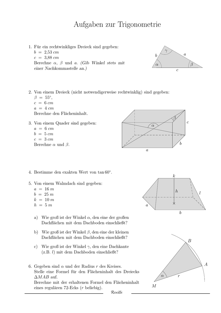 Luxury Rechtwinkliges Dreieck Trigonometrie Wort Probleme ...