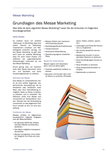 Grundlagen des Messe Marketing