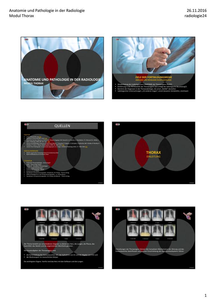 Skript Anatomie und Pathologie in der Radiologie