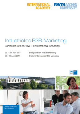 Industrielles B2B-Marketing - Weiterbildung | RWTH Aachen