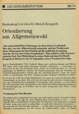 UID 1974 Nr. 39 Beilage: Dokumentation, Union in Deutschland