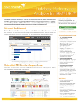 Database Performance Analyzer für IBM‰ DB2‰