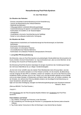 Herausforderung Post-Polio-Syndrom