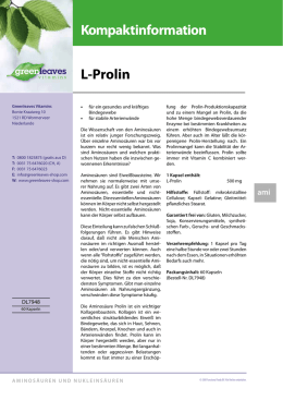 L-Prolin - Greenleaves Vitamins