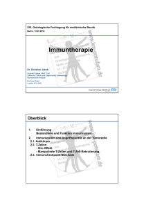 Immuntherapie