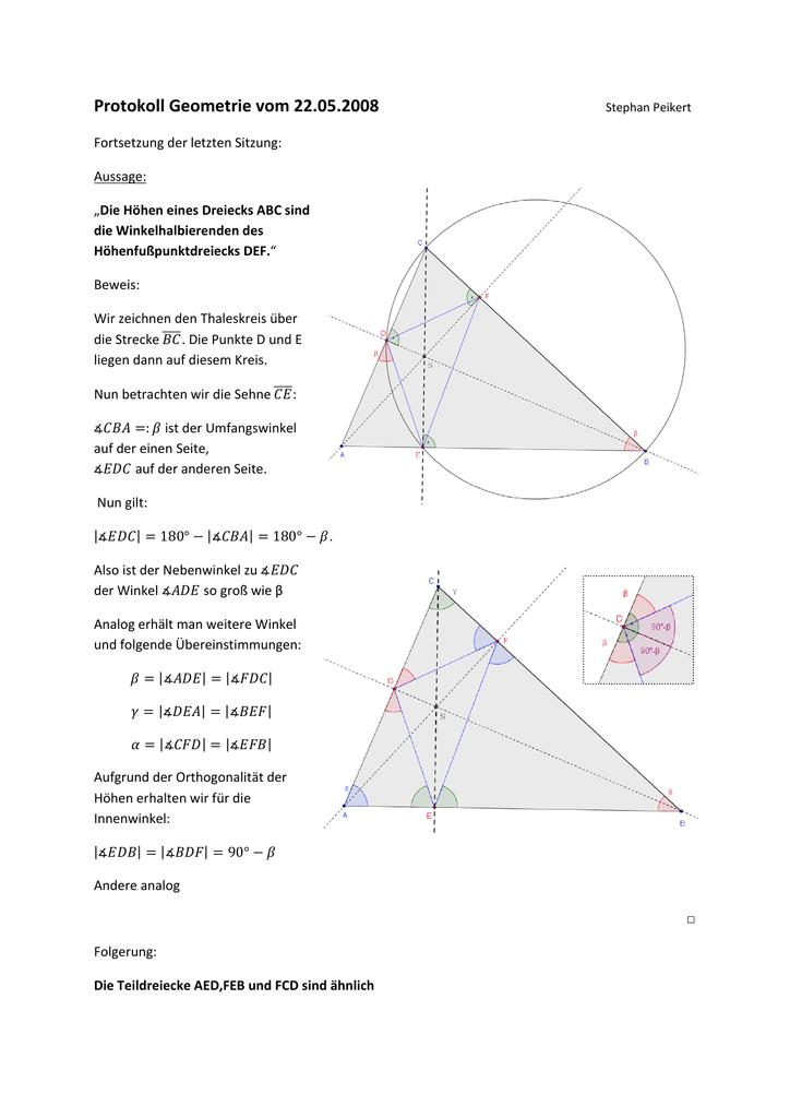 Ungewöhnlich Beweis Dreiecke ähnlich Arbeitsblatt Zeitgenössisch ...