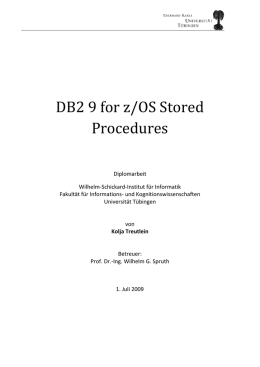 DB2 9 for z/OS Stored Procedures