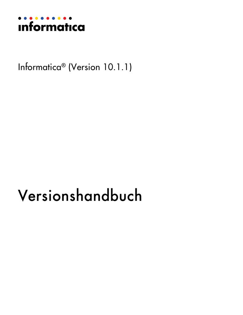Informatica - 10.1.1 - Versionshandbuch