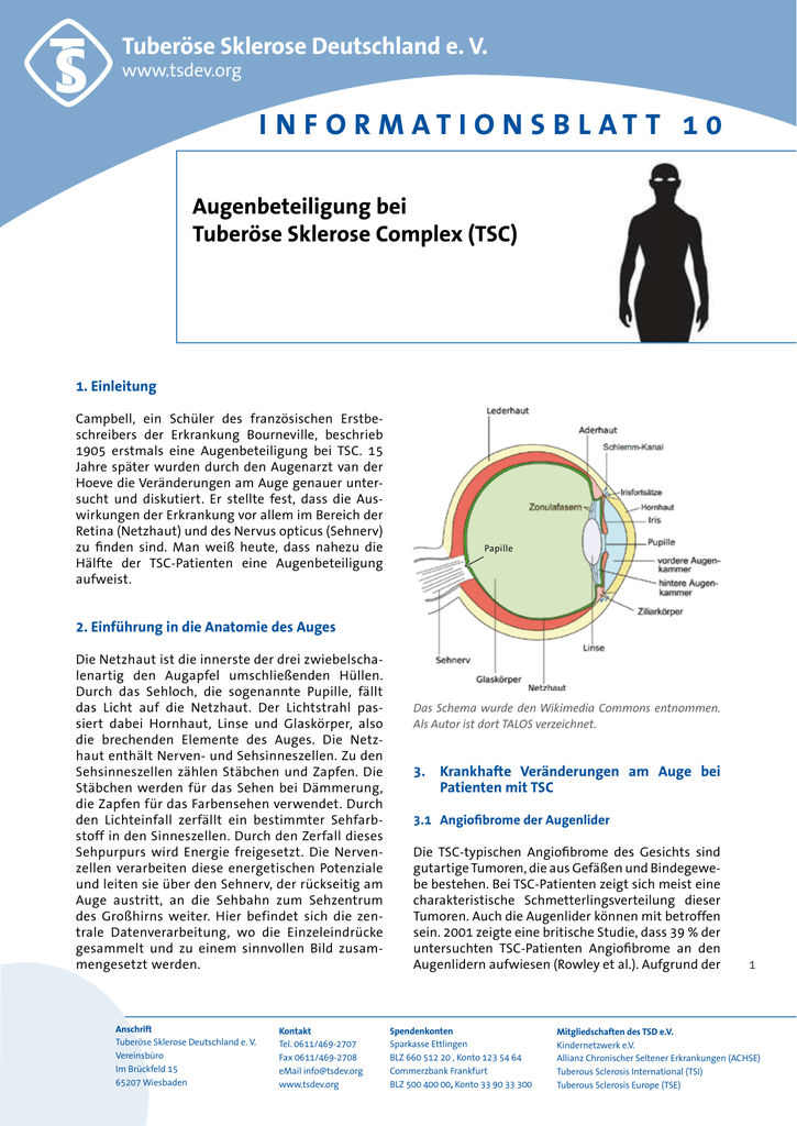 Infoblatt 10 Augenbeteiligung - Tuberöse Sklerose Deutschland eV