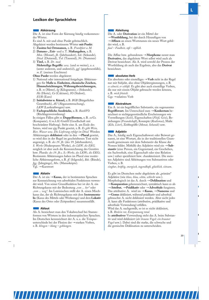 2.Lexikon der Sprachlehre