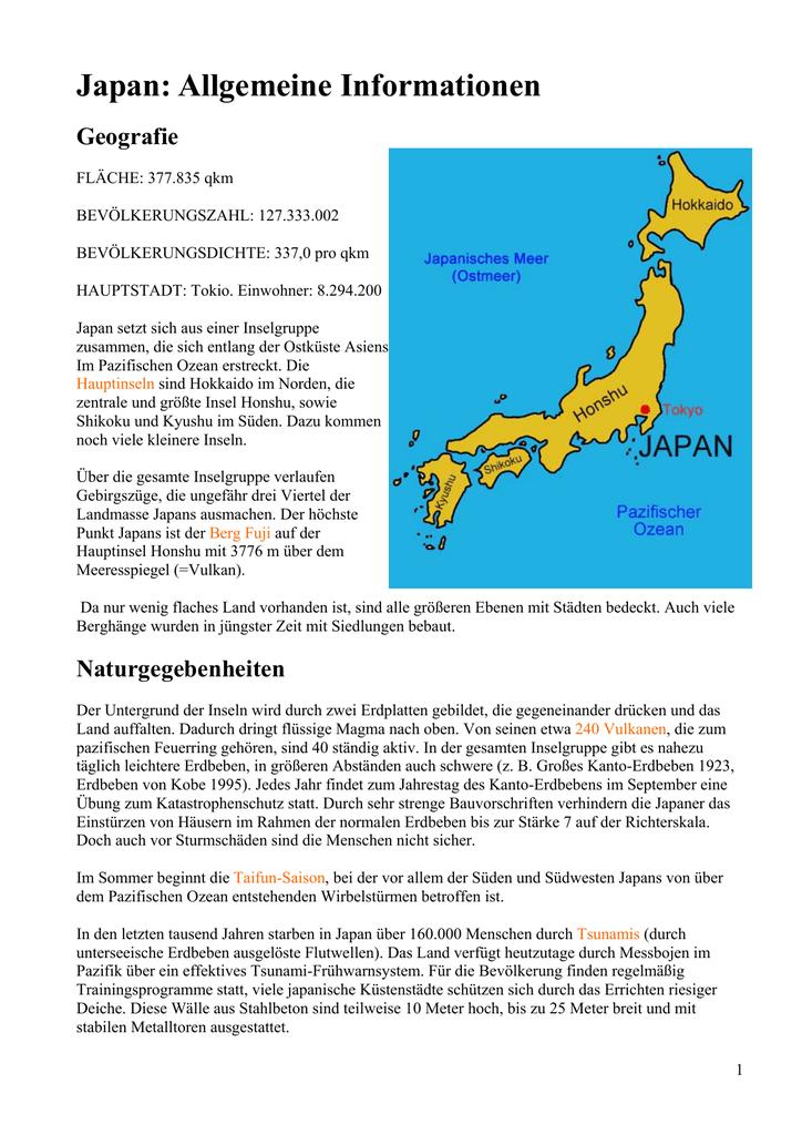 Japan Allgemeine Informationen Schulen