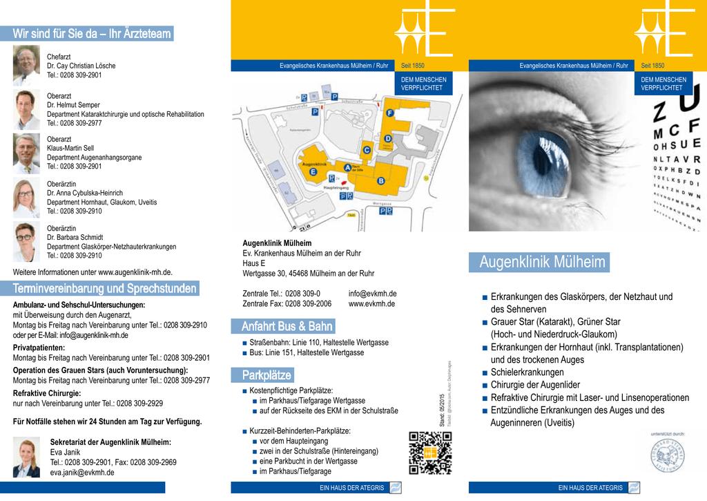 Augenklinik Mülheim Ev Krankenhaus Mülheim