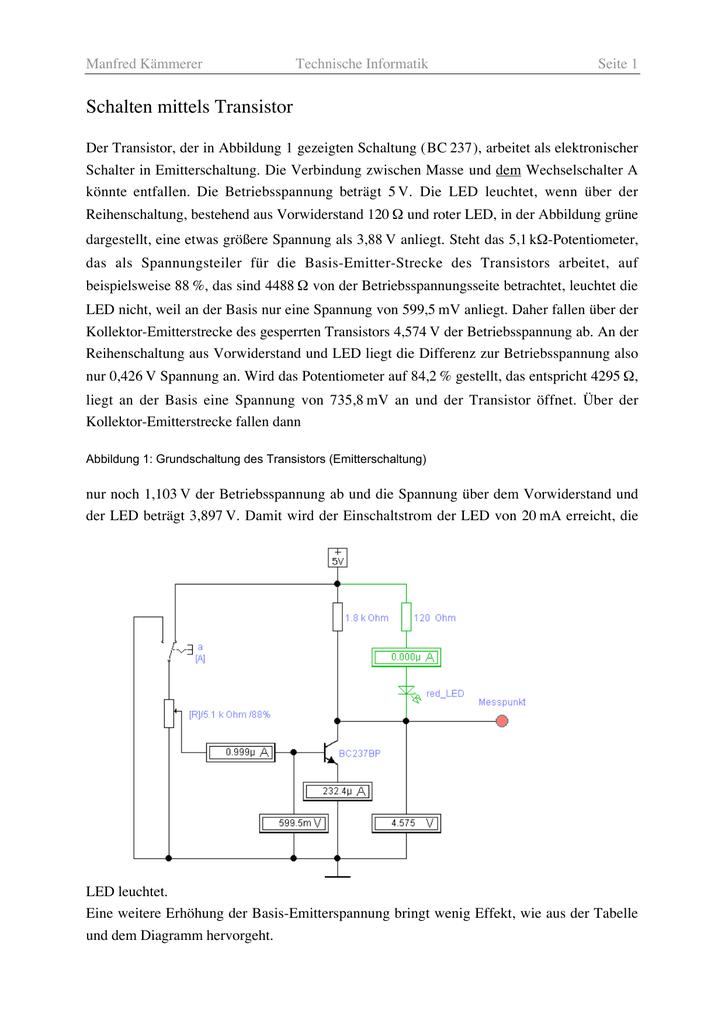 Ungewöhnlich Basis Led Schaltplan Galerie - Elektrische Schaltplan ...