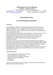 Patienteninformation zur Fettabsaugung (Liposuktion)
