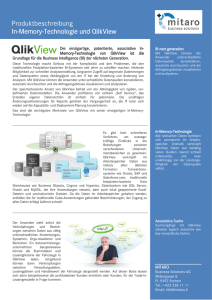 QlikView In-Memory-Technologie