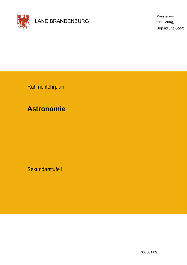 Astronomie - Bildungsserver Berlin