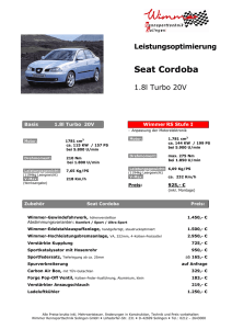 Cordoba 1,8l Turbo 20V 157PS